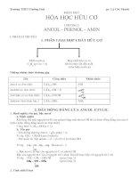 Tài liệu Lý thuyết Hóa học hữu cơ ppt