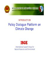 Tài liệu Policy dialogue platform on climate change docx