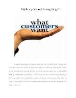 Tài liệu Dịch vụ khách hàng là gì? doc