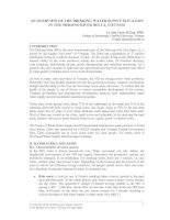 Tài liệu An overview of the drinking water supply situation in the Mekong river delta, Vietnam pdf