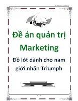 Tài liệu Đề án quản trị Marketing: Đồ lót dành cho nam giới nhãn triumph doc