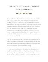 Tài liệu LUYỆN ĐỌC TIẾNG ANH QUA TÁC PHẨM VĂN HỌC-THE ADVENTURES OF SHERLOCK HOMES -ARTHUR CONAN DOYLE 3-1 ppt