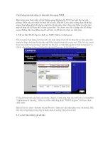 Tài liệu Cách nâng cao tính năng và bảo mật cho mạng WIFI pdf