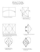 Tài liệu Nghệ thuật xếp hình Nhật Bản: 8½ by 11 Turtle pdf