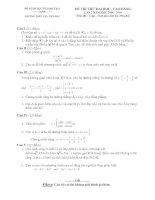 Tài liệu Đề thi thử đại học lần 2 môn Toán 2009 - THTP Tây Tiền Hải pdf