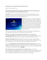 Tài liệu Những lưu ý khi nâng cấp từ XP lên Windows 7 pptx