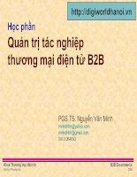 Tài liệu Quản trị tác nghiệp thương mại điện tử B2B pptx
