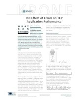 Tài liệu KRONE - White Paper - The effect of errors on TCP Application performance (Full version) doc