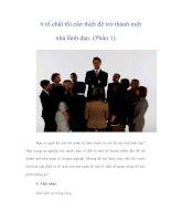 Tài liệu 6 tố chất tối cần thiết để trở thành một nhà lãnh đạo (Phần 1) pdf