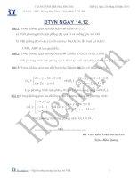 Tài liệu BTVN ngày 14.12 hình học không gian (Bài tập và hướng dẫn giải) doc