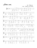 Tài liệu Bài hát chơi vơi - Nguyễn Minh Châu (lời bài hát có nốt) doc