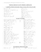 Tài liệu Các bài tập chọn lọc về PT&BPT mũ & Logarit