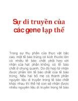 Tài liệu Sự di truyền của các gene lạp thể pptx