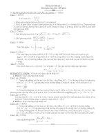 Bài soạn đề thi toán có đáp án
