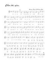 Tài liệu Bài hát cho tôi yêu - Hoàng Đạm & Hoàng Yến (lời bài hát có nốt) docx