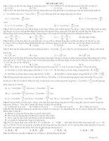 Tài liệu Đề thi thử đại học môn Vật Lý (có đáp án) docx