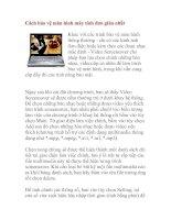 Tài liệu Cách bảo vệ màn hình máy tính đơn giản nhất pdf