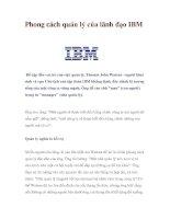 Tài liệu Phong cách quản lý của lãnh đạo IBM ppt