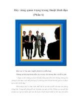 Tài liệu Bảy vùng quan trọng trong thuật lãnh đạo (Phần 6) doc