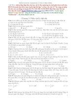 Tài liệu Bài tập trắc nghiệm cơ học vật rắn 12 (Có đáp án) pptx
