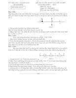 Đề Thi Vật Lý Vào 10 Thanh Hóa 09-10