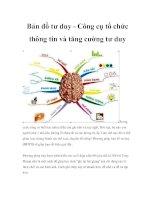 Bản đồ tư duy công cụ tổ chức thông tin và tăng cường tư duy