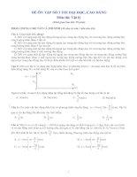 Đề thi thử ĐH số 3 (có đáp án)