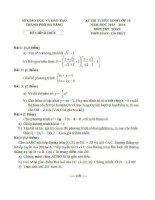 Đề thi tuyển sinh lớp 10 môn toán năm học 2013 - 2014 thành phố Đà Nẵng
