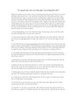 """21 nguyên tắc của các triệu phú """"tay trắng làm nên"""""""