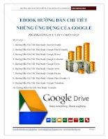 Hướng dẫn chi tiết các ứng dụng của Google