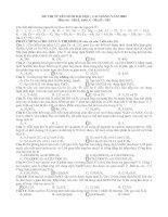 đề và đáp án chi tiết môn Hóa ĐH khối A năm2009