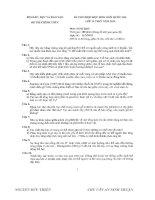 Đề thi và đáp án HSG quốc gia môn sinh năm 2010