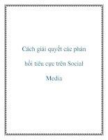 Cách giải quyết các phản hồi tiêu cực trên social media