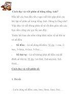 Cách đọc và viết phân số bằng tiếng anh