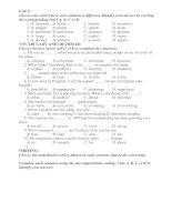 test for UNIT 3