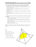 Phương pháp giảng dạy hình học lớp 11   phần thiết diện