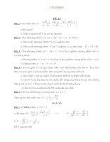 Bộ đề & ĐA ôn thi vào lớp 10 THPT môn Toán Đề số 15