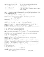ĐỀ THI HỌC SINH GIỎI GIẢI TOÁN MÁY TÍNH CẦM TAY NĂM HỌC 2012-2013 KHỐI LỚP 9 – SỞ GIÁO DỤC VÀ ĐÀO TẠO LONG AN
