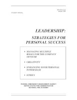 LEADERSHIP STRATEGIES FOR PERSONAL SUCCESS