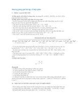 Phương pháp giải bài tập về điện phân