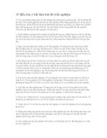 15 điều lưu ý khi làm bài thi trắc nghiệm
