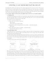 Bài Bài giảng Kỹ thuật Vi xử lý - Chương 3