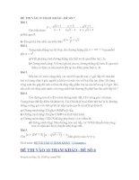 ĐỀ THI VÀO 10 THAM KHẢO - ĐỀ SỐ 6, 7