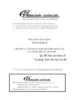 Bài giảng: Đồ thị của hàm số và phép tịnh tiến toạ độ (Giải tích 12 - Chương I: ỨNG DỤNG ĐẠO HÀM ĐỂ KHẢO SÁT VÀ VẼ ĐỒ THỊ HÀM SỐ)