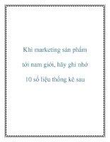 Khi marketing sản phẩm tới nam giới, hãy ghi nhớ 10 số liệu thống kê sau