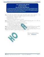 Bài tập tự luyện các vấn đề về góc phân 3