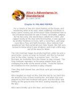 Những cuộc phiêu lưu của Alice (chương 6)