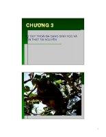 Giáo trình đa dạng sinh học - ĐH Hồng Bàng - Chương 3