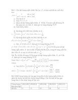 Bài tập xác suất thống kê 1