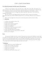 Bài tập đọc hiểu (U1- 3)